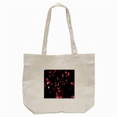 Lying Red Triangle Particles Dark Motion Tote Bag (cream) by Mariart