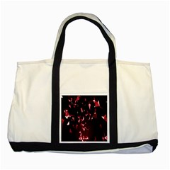 Lying Red Triangle Particles Dark Motion Two Tone Tote Bag by Mariart