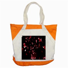 Lying Red Triangle Particles Dark Motion Accent Tote Bag by Mariart
