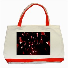 Lying Red Triangle Particles Dark Motion Classic Tote Bag (red) by Mariart