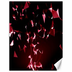 Lying Red Triangle Particles Dark Motion Canvas 12  X 16   by Mariart