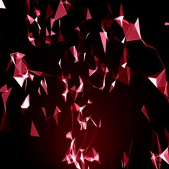 Lying Red Triangle Particles Dark Motion Canvas 16  X 16   by Mariart