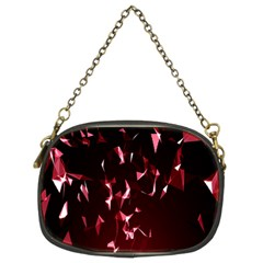 Lying Red Triangle Particles Dark Motion Chain Purses (two Sides)  by Mariart