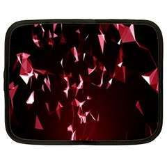 Lying Red Triangle Particles Dark Motion Netbook Case (xxl)  by Mariart