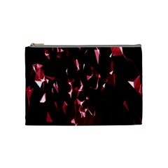 Lying Red Triangle Particles Dark Motion Cosmetic Bag (medium)  by Mariart