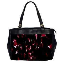Lying Red Triangle Particles Dark Motion Office Handbags by Mariart