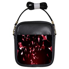 Lying Red Triangle Particles Dark Motion Girls Sling Bags by Mariart