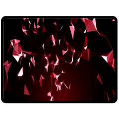 Lying Red Triangle Particles Dark Motion Fleece Blanket (large)  by Mariart