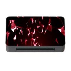 Lying Red Triangle Particles Dark Motion Memory Card Reader With Cf by Mariart