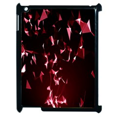 Lying Red Triangle Particles Dark Motion Apple Ipad 2 Case (black) by Mariart