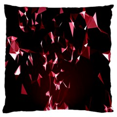 Lying Red Triangle Particles Dark Motion Large Cushion Case (two Sides) by Mariart