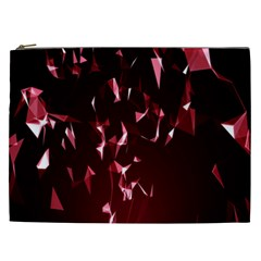 Lying Red Triangle Particles Dark Motion Cosmetic Bag (xxl)  by Mariart