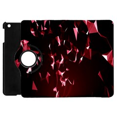Lying Red Triangle Particles Dark Motion Apple Ipad Mini Flip 360 Case by Mariart