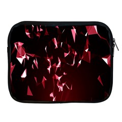 Lying Red Triangle Particles Dark Motion Apple Ipad 2/3/4 Zipper Cases by Mariart