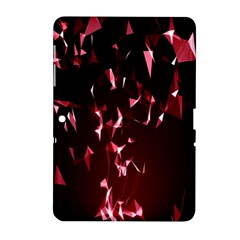 Lying Red Triangle Particles Dark Motion Samsung Galaxy Tab 2 (10 1 ) P5100 Hardshell Case  by Mariart