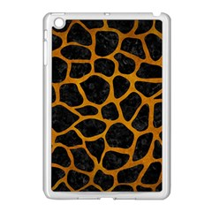 Skin1 Black Marble & Yellow Grunge Apple Ipad Mini Case (white) by trendistuff