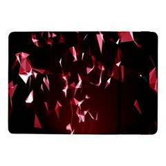 Lying Red Triangle Particles Dark Motion Samsung Galaxy Tab Pro 10 1  Flip Case by Mariart