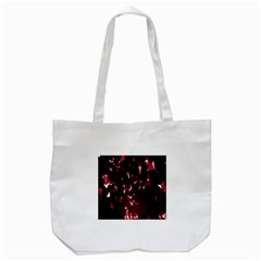 Lying Red Triangle Particles Dark Motion Tote Bag (white) by Mariart