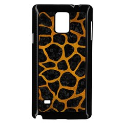 Skin1 Black Marble & Yellow Grunge Samsung Galaxy Note 4 Case (black) by trendistuff