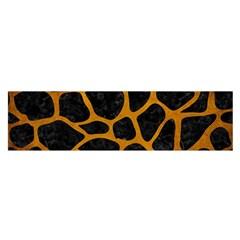 Skin1 Black Marble & Yellow Grunge Satin Scarf (oblong) by trendistuff