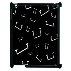 Pit White Black Sign Pattern Apple Ipad 2 Case (black) by Mariart