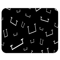 Pit White Black Sign Pattern Double Sided Flano Blanket (medium)  by Mariart