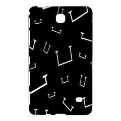 Pit White Black Sign Pattern Samsung Galaxy Tab 4 (8 ) Hardshell Case  by Mariart