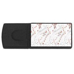 Musical Scales Note Rectangular Usb Flash Drive by Mariart