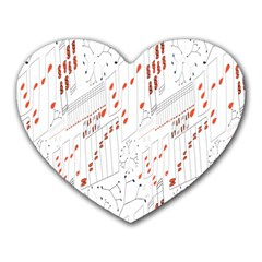 Musical Scales Note Heart Mousepads by Mariart