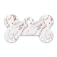 Musical Scales Note Dog Tag Bone (one Side) by Mariart