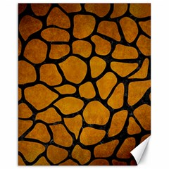Skin1 Black Marble & Yellow Grunge (r) Canvas 16  X 20   by trendistuff