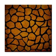 Skin1 Black Marble & Yellow Grunge (r) Face Towel by trendistuff