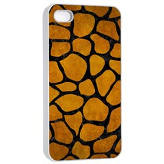 Skin1 Black Marble & Yellow Grunge (r) Apple Iphone 4/4s Seamless Case (white) by trendistuff