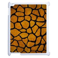 Skin1 Black Marble & Yellow Grunge (r) Apple Ipad 2 Case (white) by trendistuff