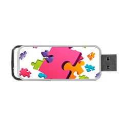 Passel Picture Green Pink Blue Sexy Game Portable Usb Flash (one Side) by Mariart