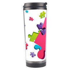 Passel Picture Green Pink Blue Sexy Game Travel Tumbler by Mariart