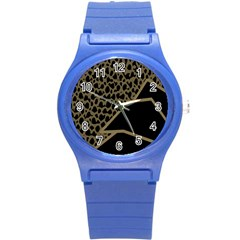 Polka Spot Grey Black Round Plastic Sport Watch (s) by Mariart