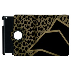 Polka Spot Grey Black Apple Ipad 2 Flip 360 Case by Mariart