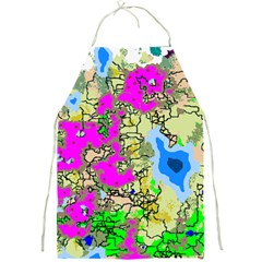 Painting Map Pink Green Blue Street Full Print Aprons by Mariart