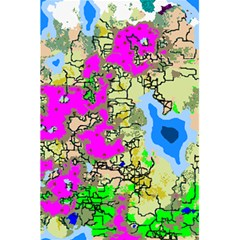 Painting Map Pink Green Blue Street 5 5  X 8 5  Notebooks by Mariart
