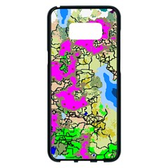 Painting Map Pink Green Blue Street Samsung Galaxy S8 Plus Black Seamless Case by Mariart