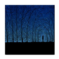 Forest Tree Night Blue Black Man Tile Coasters by Mariart