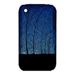 Forest Tree Night Blue Black Man Iphone 3s/3gs by Mariart