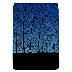 Forest Tree Night Blue Black Man Flap Covers (s)  by Mariart