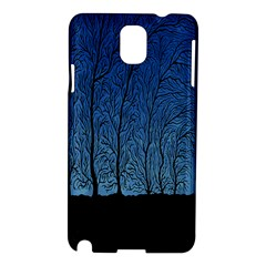 Forest Tree Night Blue Black Man Samsung Galaxy Note 3 N9005 Hardshell Case by Mariart