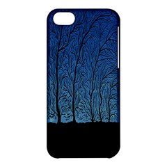 Forest Tree Night Blue Black Man Apple Iphone 5c Hardshell Case by Mariart