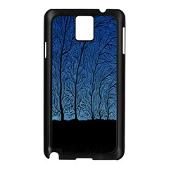 Forest Tree Night Blue Black Man Samsung Galaxy Note 3 N9005 Case (black) by Mariart