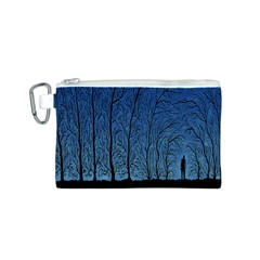 Forest Tree Night Blue Black Man Canvas Cosmetic Bag (s) by Mariart