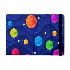 Planet Space Moon Galaxy Sky Blue Polka Apple Ipad Mini Flip Case by Mariart
