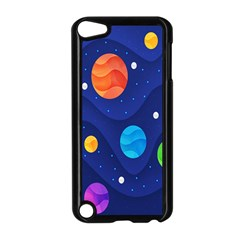Planet Space Moon Galaxy Sky Blue Polka Apple Ipod Touch 5 Case (black) by Mariart